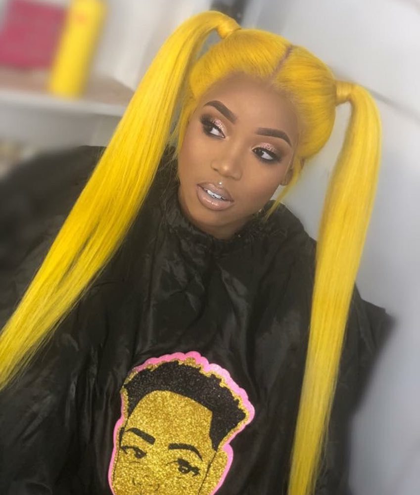 Ulovewigs Human Virgin Hair Yellow Pre Plucked Lace Front Wig And Full Lace Wig For Black Woman Free Shipping (ULW0137)