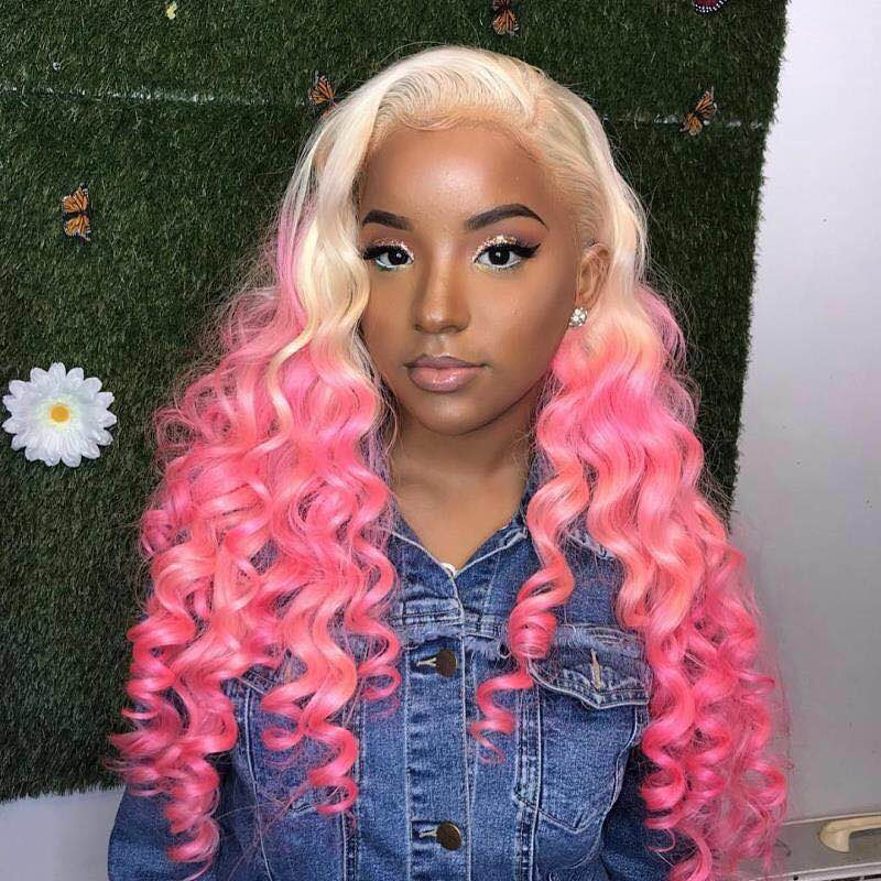 Ulovewigs Human Virgin Hair  Pre Plucked Lace Front Wig And Full Lace Wig For Black Woman Free Shipping (ULW0144)