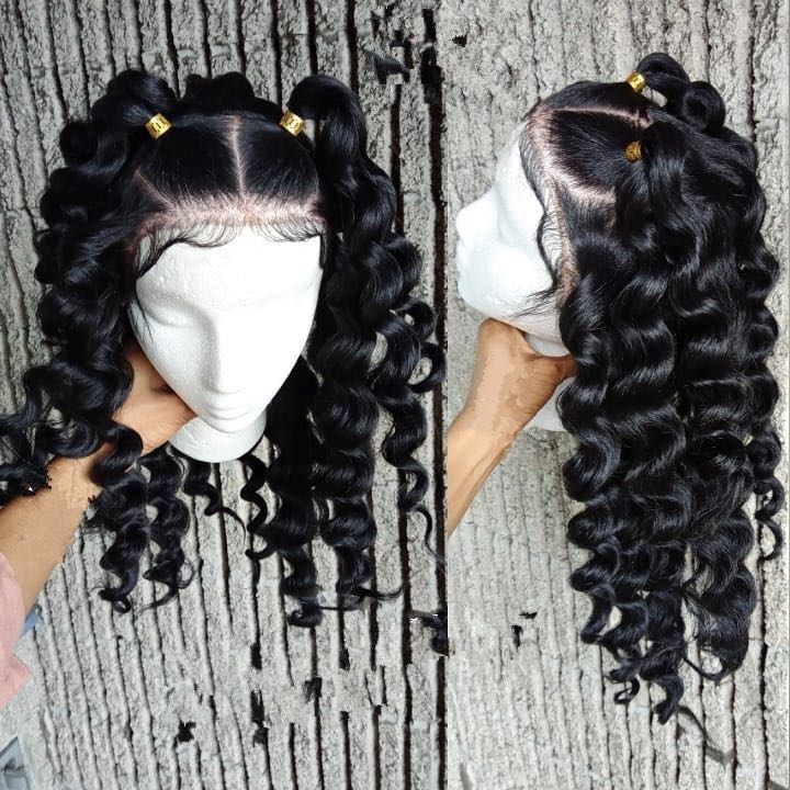 Ulovewigs Human Virgin Hair Curl Pre Plucked Lace Front Wig And Full Lace Wig For Black Woman Free Shipping (ULW0147)