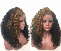 Ulovewigs Human Virgin Hair Ombre Wave Pre Plucked Lace Front Wig And Full Lace Wig For Black Woman Free Shipping (ULW0151)