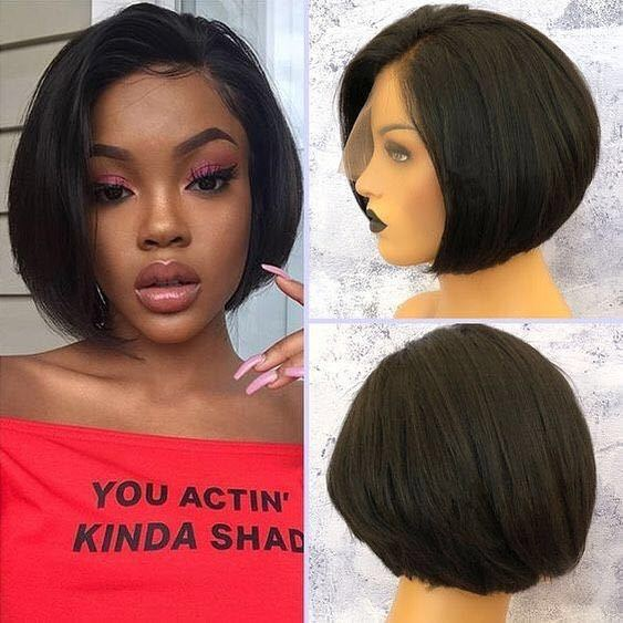 Ulovewigs Human Virgin Hair Pre Plucked Lace Front Wig And Full Lace Wig For Black Woman Free Shipping (ULW0156)