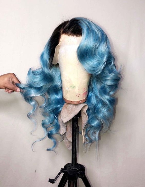 Ulovewigs Human Virgin Hair Pre Plucked Lace Front Wig And Full Lace Wig  Free Shipping (ULW0162)