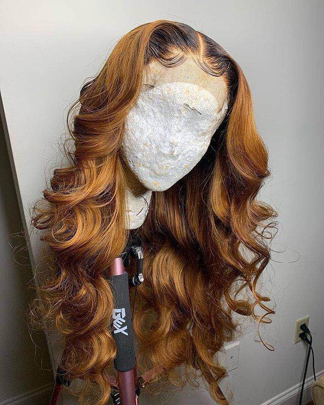 Ulovewigs Human Virgin Hair Ombre Wave Pre Plucked Lace Front Wig And Full Lace Wig For Black Woman Free Shipping (ULW0166)