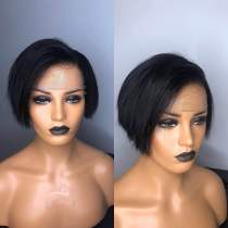 Ulovewigs Human Virgin Hair Bob Pre Plucked Lace Front Wig  Free Shipping(ULW0101)