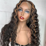 Ulovewigs Human Virgin Hair Ombre Wave Pre Plucked Lace Front Wig  Free Shipping (ULW0146)