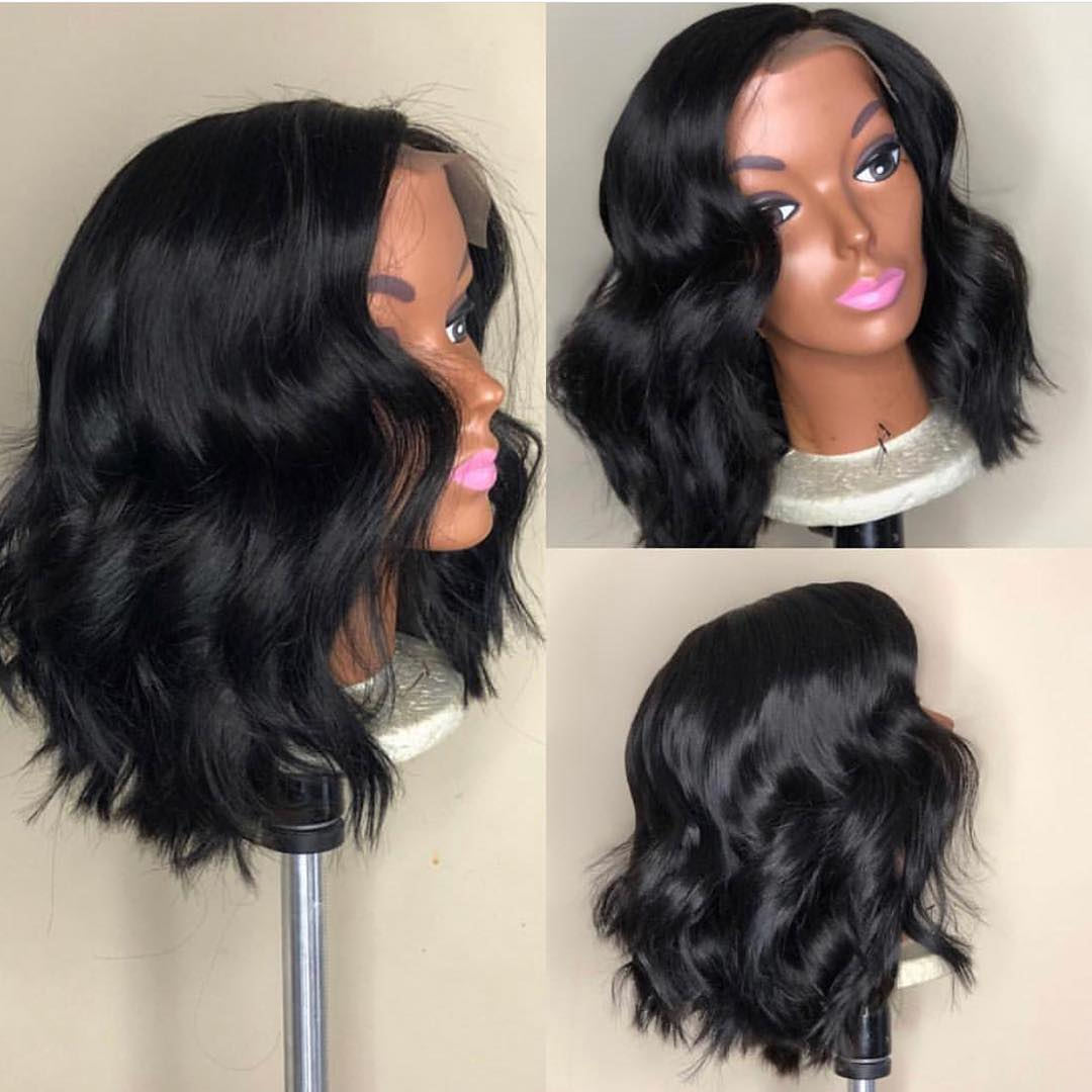 Ulovewigs Human Virgin Hair Pre Plucked Lace Front Wig  Free Shipping (ULW0173)