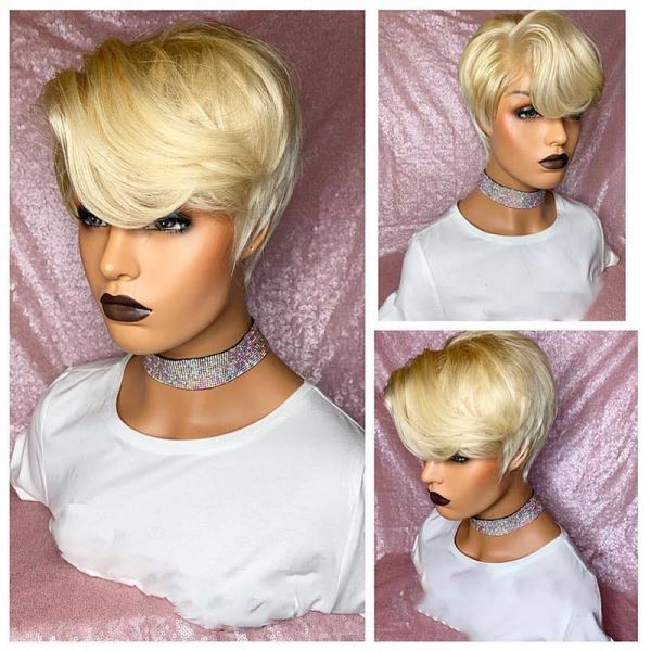 Ulovewigs Human Virgin Hair Pre Plucked Lace Front Wig  Free Shipping (ULW0175)