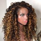 Ulovewigs Human Virgin Hair Ombre Wave Pre Plucked Lace Front Wig  Free Shipping (ULW0177)