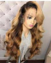Ulovewigs Human Virgin Hair Pre Plucked Lace Front Wig  Free Shipping (ULW0184)