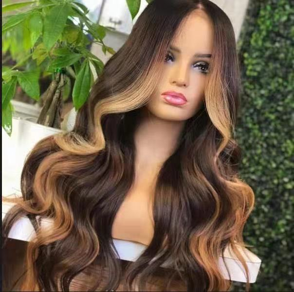 Ulovewigs Human Virgin Hair Pre Plucked Lace Front Wig  Free Shipping (ULW0191)