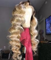 Ulovewigs Human Virgin Hair Ombre Honey Blonde Pre Plucked Lace Front Wig And Full Lace Wig For Black Woman Free Shipping (ULW0193)