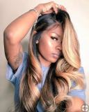 Ulovewigs Human Virgin Hair Pre Plucked Lace Front Wig Free Shipping(ULW0195)