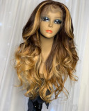 Ulovewigs Human Virgin Hair Pre Plucked Lace Front Wig  Free Shipping (ULW0205)