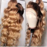 Ulovewigs Human Virgin Hair Pre Plucked Lace Front Wig  Free Shipping (ULW0202)