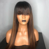 Ulovewigs Human Virgin Hair Pre Plucked Lace Front Wig  Free Shipping (ULW0207)