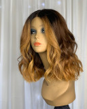 Ulovewigs Human Virgin Hair Ombre Wave Pre Plucked Lace Front Wig  Free Shipping (ULW0112)