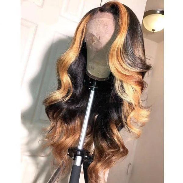 Ulovewigs Human Virgin Hair Pre Plucked Lace Front Wig  Free Shipping(ULW0092)