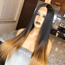 Ulovewigs Human Virgin Hair Ombre Honey Blonde Pre Plucked Lace Front Wig  Free Shipping (ULW0210)
