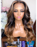 Ulovewigs Human Virgin Hair  Pre Plucked Lace Front Wig  Free Shipping (ULW0215)