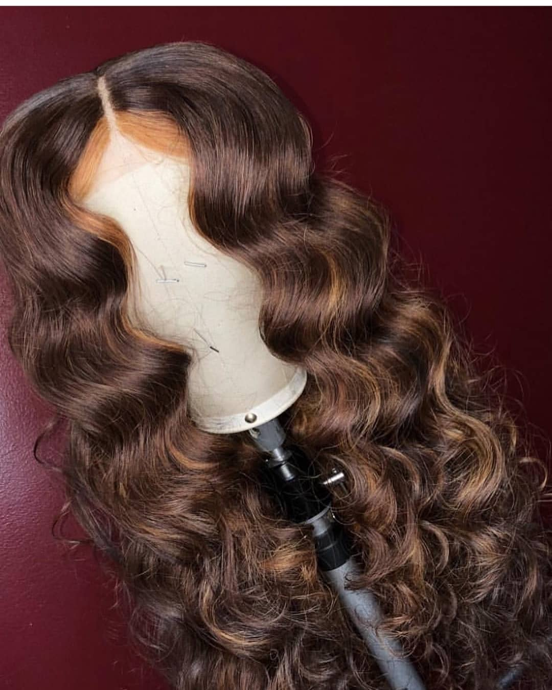 Ulovewigs Human Virgin Hair Pre Plucked Lace Front Wig  Free Shipping (ULW0216)