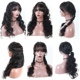 Ulovewigs Human Virgin Hair Pre Plucked Lace Front Wig   Free Shipping (ULW0232)