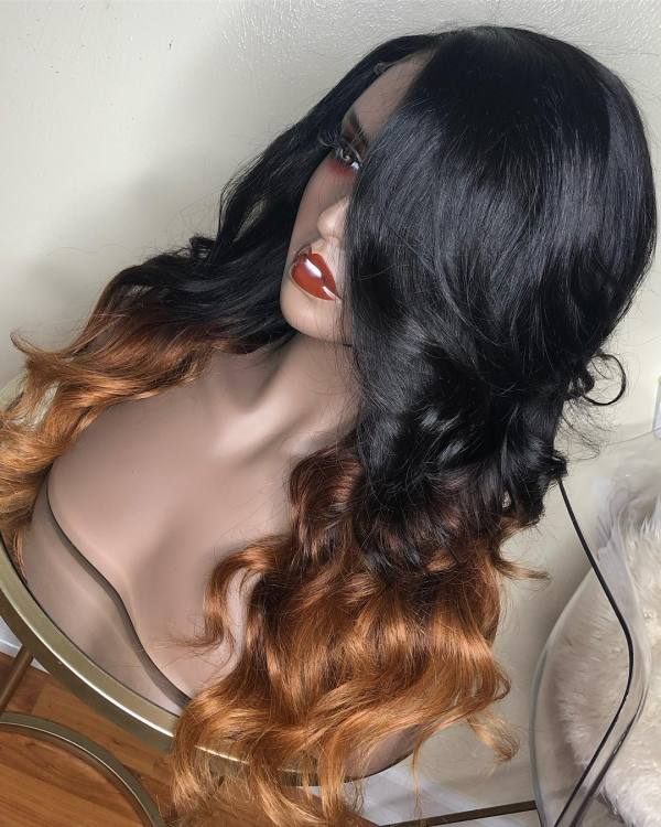 Ulovewigs Human Virgin Hair Pre Plucked Lace Front Wig  Free Shipping (ULW0250)