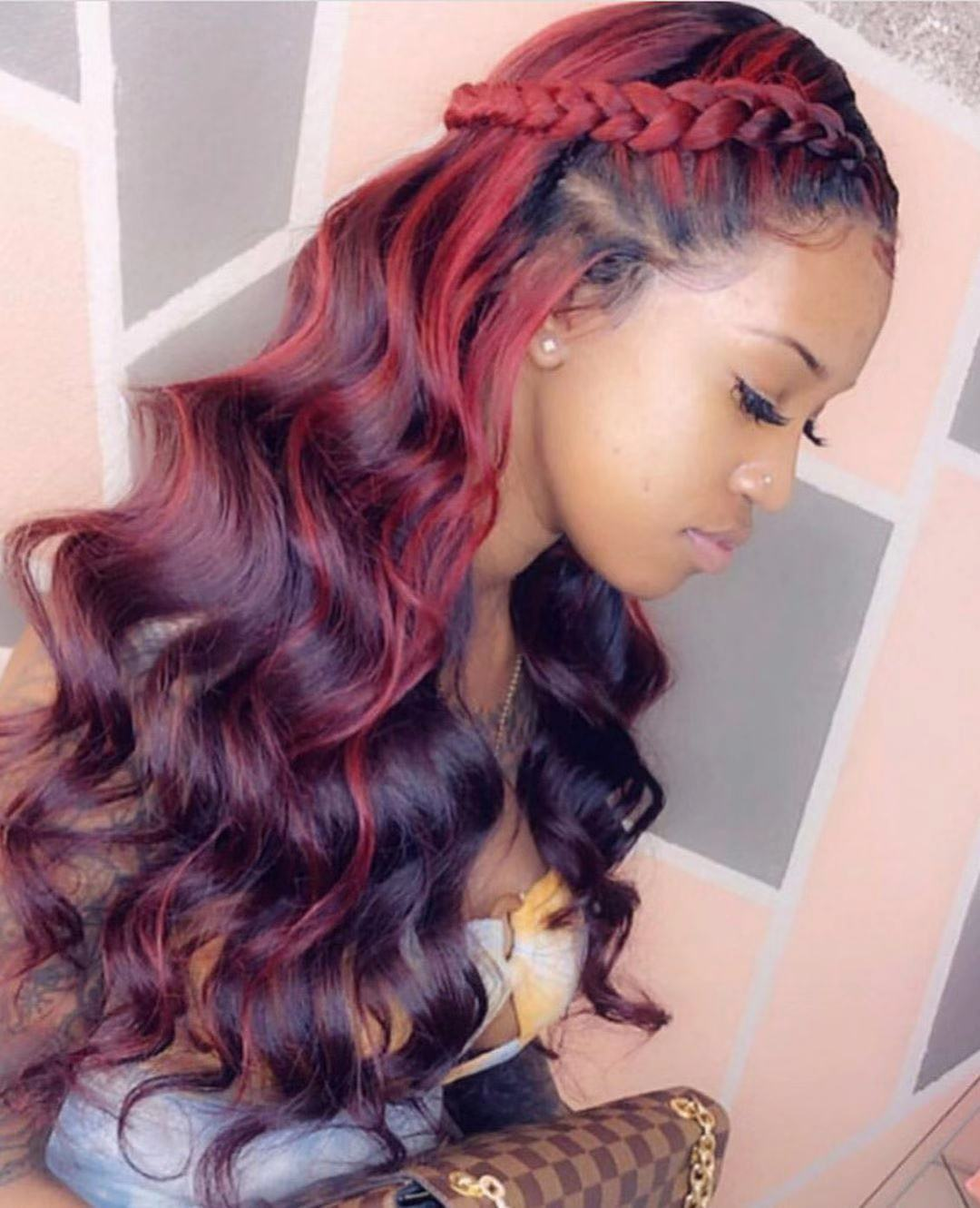 Ulovewigs Human Virgin Hair Pre Plucked Lace Front Wig  Free Shipping (ULW0246)