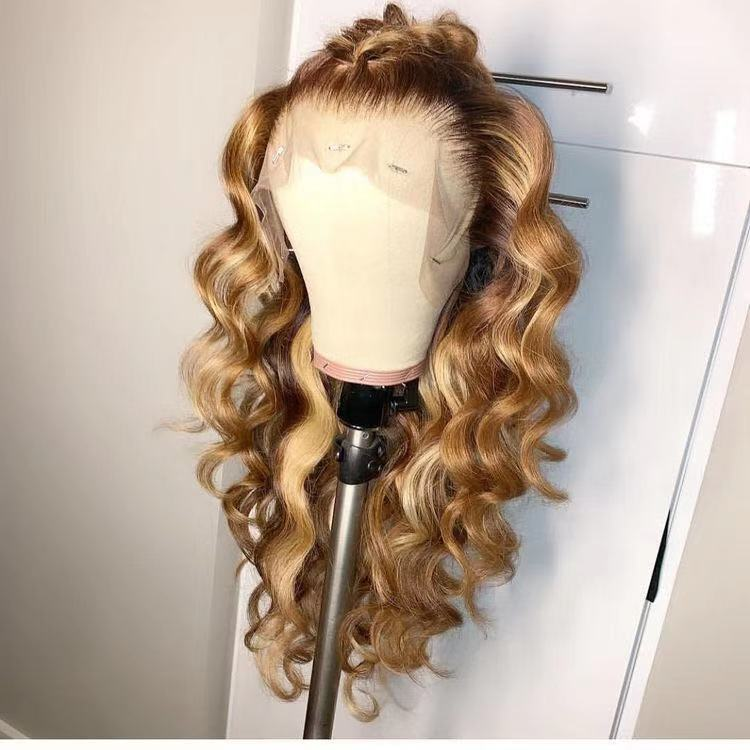 Ulovewigs Human Virgin Hair Pre Plucked Lace Front Wig  Free Shipping (ULW0242)
