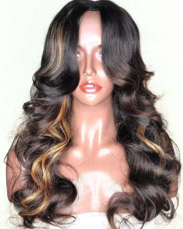 Ulovewigs Human Virgin Hair Pre Plucked Lace Front Wig  Free Shipping (ULW0245)