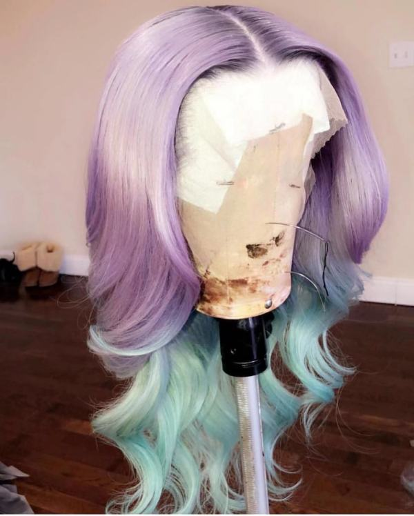 Ulovewigs Human Virgin Hair Pre Plucked Lace Front Wig And Full Lace Wig  Free Shipping (ULW0244)