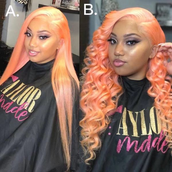 Ulovewigs Human Virgin Hair Pre Plucked Lace Front Wig And Full Lace Wig Free Shipping (ULW0254)