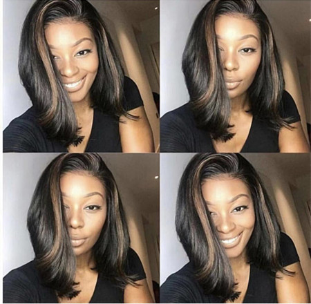 Ulovewigs Human Virgin Hair Pre Plucked Lace Front Wig  Free Shipping (ULW0258)