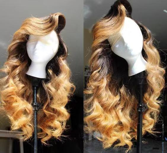Ulovewigs Human Virgin Hair Pre Plucked Lace Front Wig  Free Shipping (ULW0265)