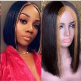 Ulovewigs Human Virgin Hair ombre bob Pre Plucked 13*4 Lace Front Wig  Free Shipping(ULW0038)