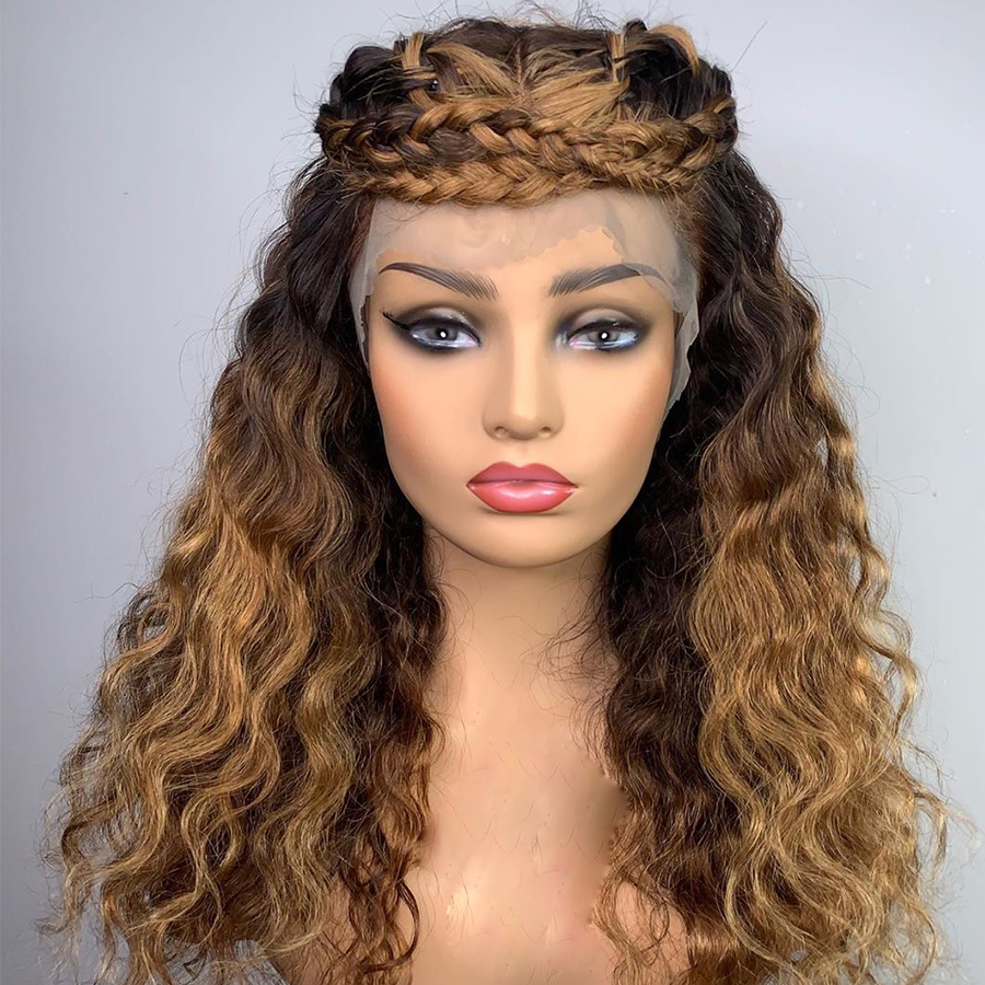 Ulovewigs Human Virgin Hair Pre Plucked Lace Front Wig And Full Lace Wig Free Shipping (ULW0266)