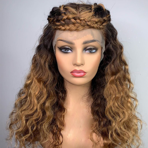 Ulovewigs Human Virgin Hair Pre Plucked Lace Front Wig  Free Shipping (ULW0266)