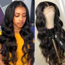 Ulovewigs Human Virgin Hair Pre Plucked 13*6 Lace Front Wig  Free Shipping (ULW0268)