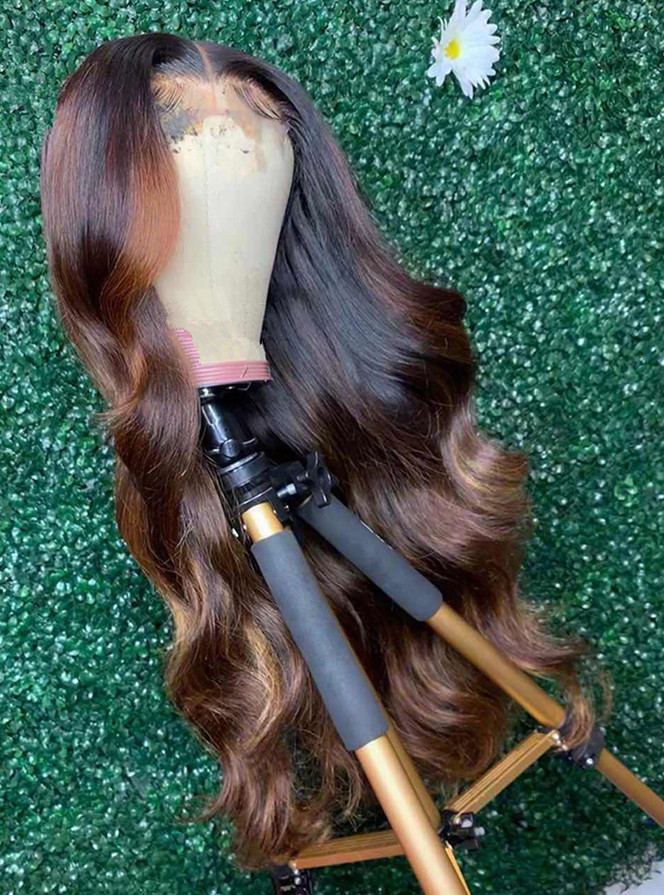 Ulovewigs Human Virgin Hair Pre Plucked Lace Front Wig And Full Lace Wig Free Shipping (ULW0283)