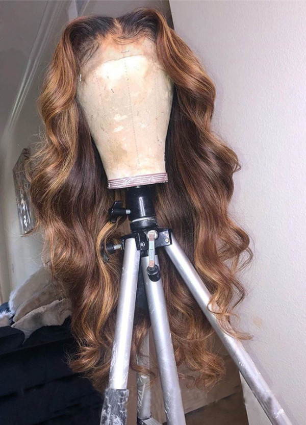 Ulovewigs Human Virgin Hair Pre Plucked Lace Front Wig  Free Shipping (ULW0282)
