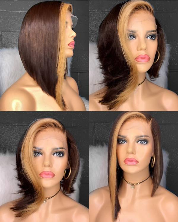 Ulovewigs Human Virgin Hair Pre Plucked Lace Front Wig And Full Lace Wig Free Shipping (ULW0299)
