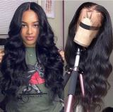 Ulovewigs Human Virgin Hair Pre Plucked Lace Front Wig  Free Shipping (ULW0307)