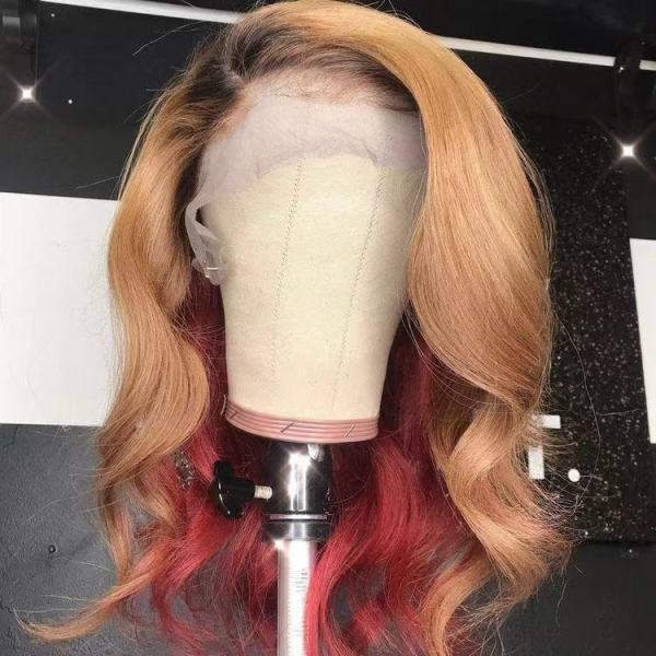 Ulovewigs Human Virgin Hair Pre Plucked Lace Front Wig  Free Shipping (ULW0319)