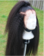 Ulovewigs Human Virgin Hair Kinky Straight Pre Plucked Lace Front Wig  Free Shipping (ULW0080)