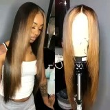 Ulovewigs Human Virgin Hair Pre Plucked Lace Front Wig  Free Shipping (ULW0280)