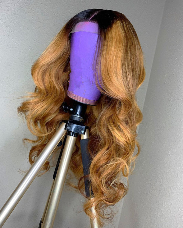 Ulovewigs Human Virgin Hair Pre Plucked Lace Front Wig  Free Shipping (ULW0308)