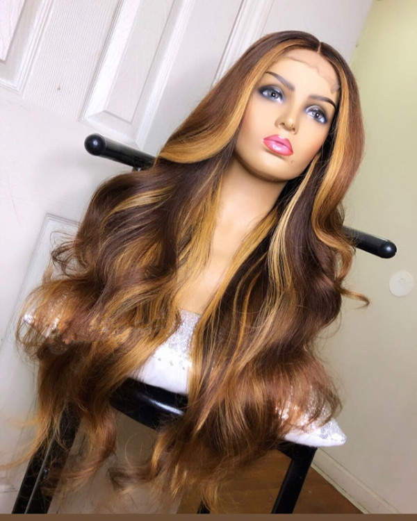 Ulovewigs Human Virgin Hair Pre Plucked Lace Front Wig And Full Lace Wig Free Shipping (ULW0350)