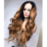 Ulovewigs Human Virgin Hair Pre Plucked Lace Front Wig  Free Shipping (ULW0349)