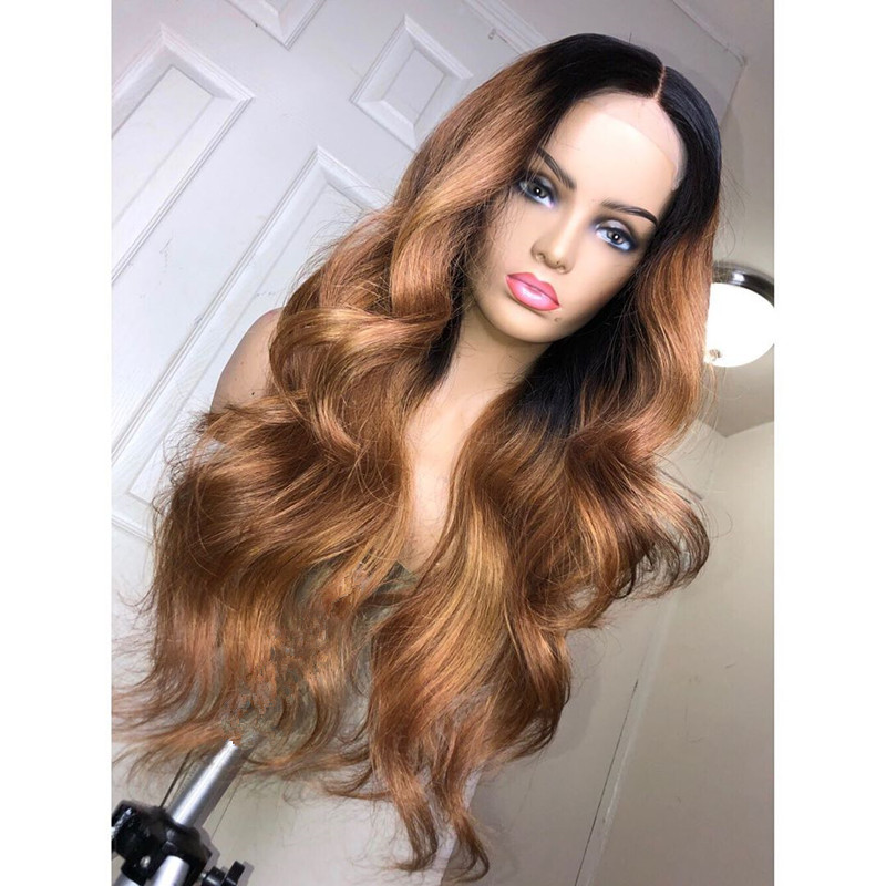 Ulovewigs Human Virgin Hair Pre Plucked Lace Front Wig And Full Lace Wig Free Shipping (ULW0349)