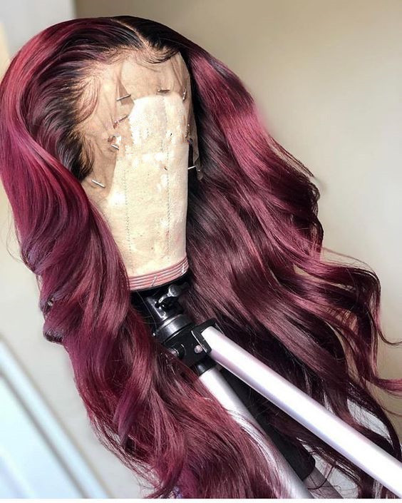 Ulovewigs Human Virgin Hair Pre Plucked Lace Front Wig  Free Shipping (ULW0370)