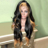 Ulovewigs Human Virgin Hair Pre Plucked Lace Front Wig  Free Shipping (ULW0223)